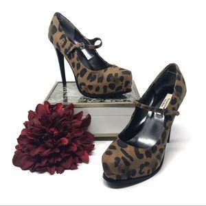 Vera Wang Leopard Print Platform Mary Jane Shoe